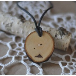 Ağaç Kolye  Odun