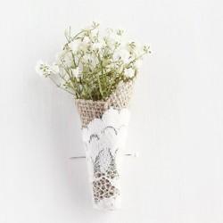 Damat Yaka Çiçeği Dantel