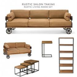 Rustic Salon Takımı Set