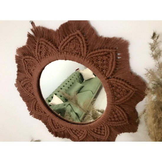 Makrome Ayna 30 Çap