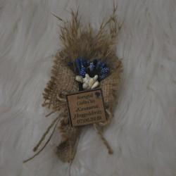 Hasır Hediyelik Kuru Çiçek Mor