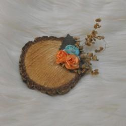 Kütük Magnet Kuru Çiçek