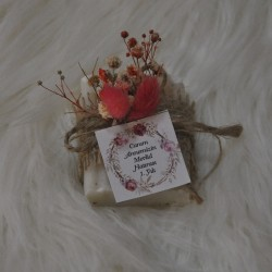 Kuru Çiçek Detaylı Jüt Sabun