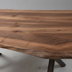 Masif Tek Parça Kestane Ağacı Yemek Masası