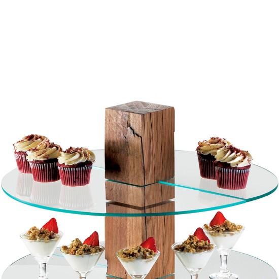 Ahşap Cam kek Standı 50 cm