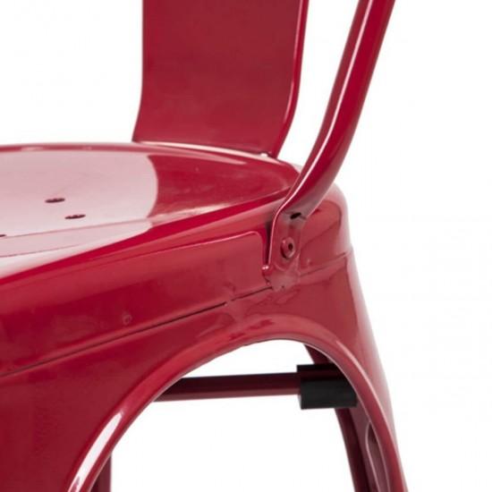 Tolix Sandalye Kırmızı