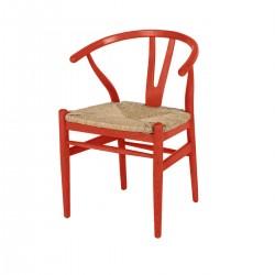 Wishbone Sandalye Kırmızı