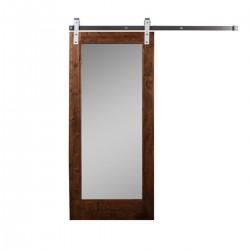 Rustik  Sürgülü Aynalı Kapı